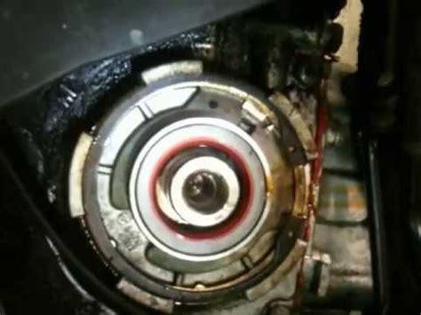 saab   oil leak crank shaft seal youtube