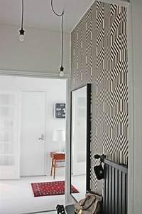 Tapisser Avec 2 Papiers Differents : papier peint pour couloir comment faire le bon choix ~ Nature-et-papiers.com Idées de Décoration