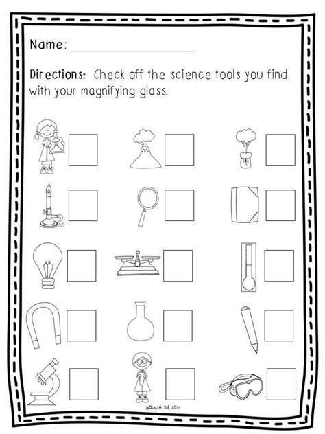 science tools freebie kindergarten science science