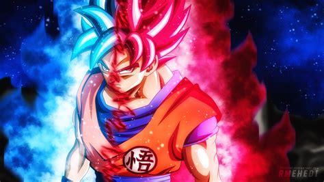 Dragon Ball Wallpaper 1920x1080 Super Saiyan God Blue Versus Super Saiyan God Red Otakuverse