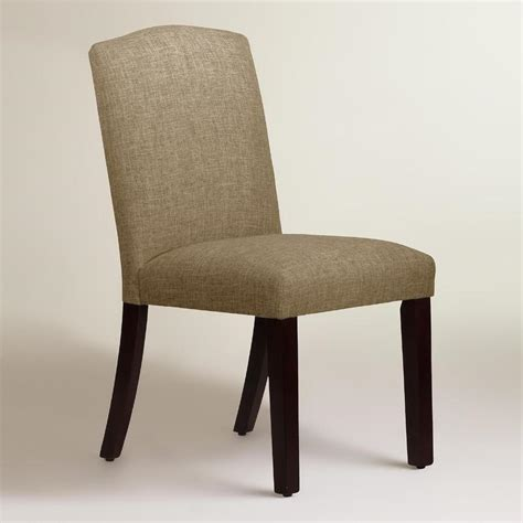 linen blend rena upholstered dining chair