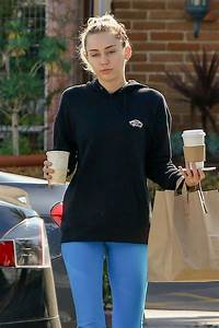 MILEY CYRUS and Liam Hemsworth Leaves Ollo Restaurant in ...