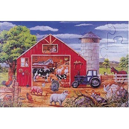 Doug Barn by 24 Deluxe Animals In The Barn Cardboard Floor Puzzle