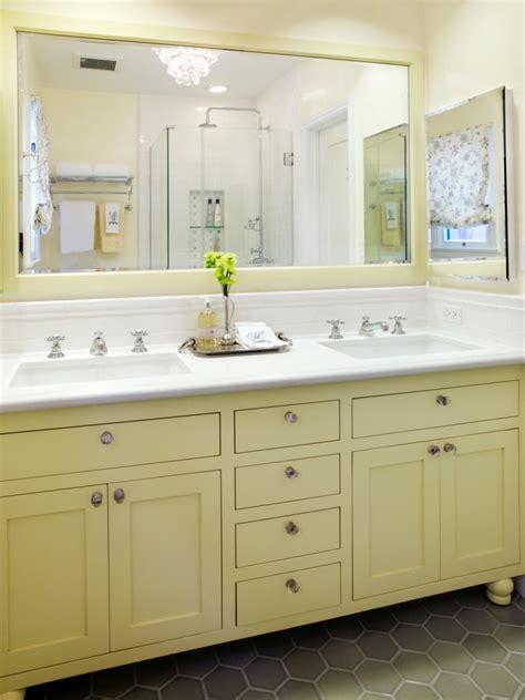 narrow bathroom vanities small bathrooms 10 yellow bathroom ideas hgtv 39 s decorating design