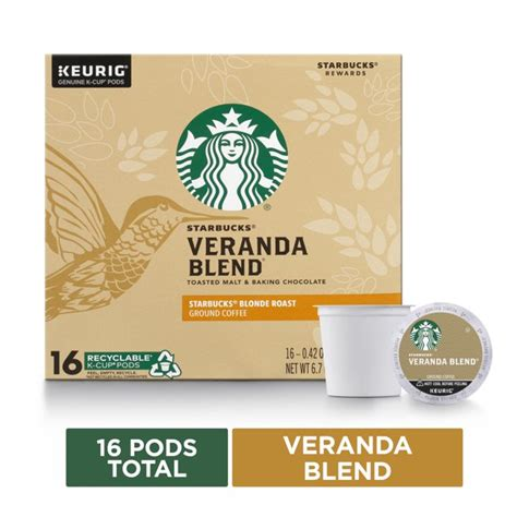 The starbucks verismo® system uses specially packaged pods that let you create starbucks espresso drinks and brewed coffee at home. Starbucks Veranda Blend Coffee K-Cup Pods Blonde Roast Coffee Pods for Keurig Brewers 1 Box (16 ...