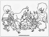 Farm Coloring Pages Animals Activities Crafts Diy sketch template