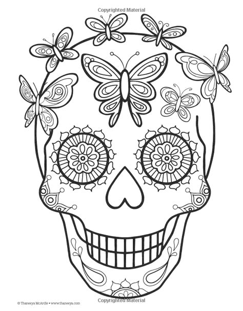 Day of the Dead Coloring Book: Thaneeya McArdle