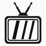 Icon Retro Tv Antenna Television Screen Editor