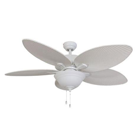 white palm leaf ceiling fan blades fans tortola 52 in white ceiling fan 10059 the