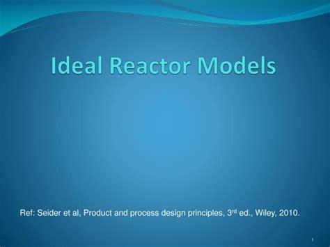 ideal reactor models powerpoint