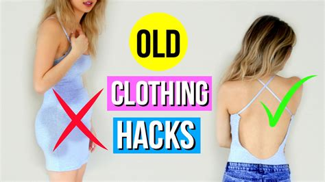 5 Diy Clothing Hacks Every Girl Must Know! Youtube