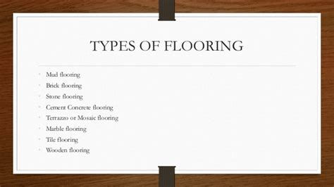 Types Of Floor Covering Ppt by Types Of Flooring Ppt Meze
