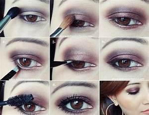 Maquillage Yeux Tuto : tuto maquillage yeux marrons ~ Nature-et-papiers.com Idées de Décoration
