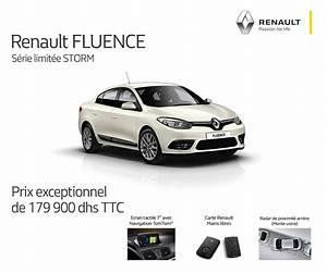 Renault Zoe Prix Ttc : renault fluence version limit e storm prix exceptionnel de 179 900 mad ttc promotion au maroc ~ Medecine-chirurgie-esthetiques.com Avis de Voitures