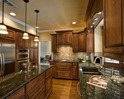 walnut kitchen cabinets granite countertops cabinets exciting traditional kitchen burnished walnut 8902