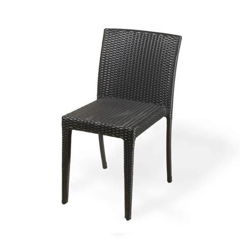 chaise en résine tressée chaise en résine tressée toscane lot de 4 deco et saveurs com