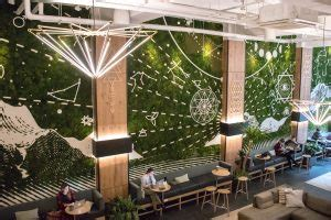 Moss Wall For Restaurants And Hotels Designing With