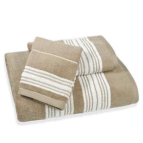 buy coastal stripe bath towel  beige  bed bath
