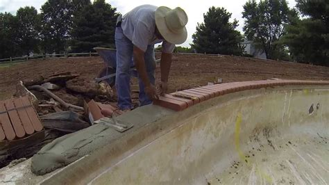 how to install tile and coping on a pool remodel