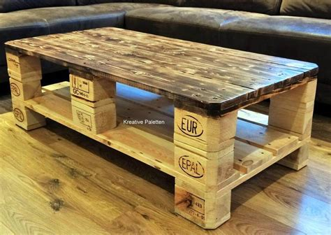 coffee table made out of pallet wood euro pallet wood coffee table 99 pallets