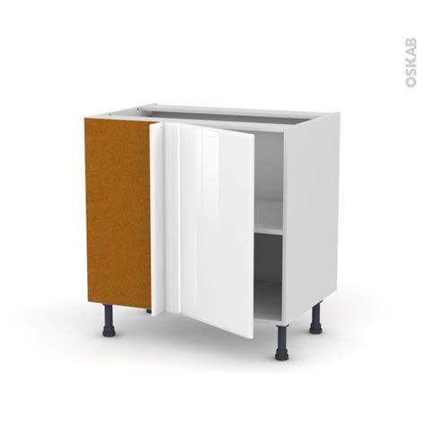 meuble cuisine 70 cm largeur meuble de cuisine angle bas réversible iris blanc 1 porte