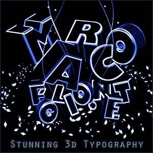 Stunning neon light 3d typography