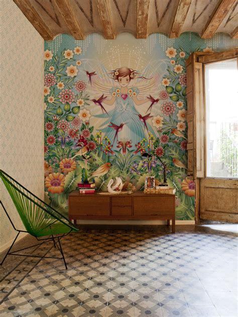 colorful nature inspired wallpaper design  catalina estrada
