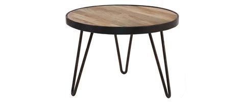 table basse ronde design industriel 50x35cm atelier miliboo
