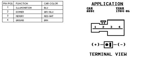 audi car radio stereo audio wiring diagram autoradio