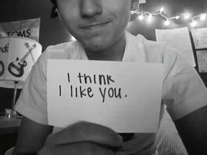 boy, cute, i think i like you, love, - image #200668 on ...