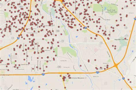 Registered Offender Map Of San Antonio Area Zip Codes