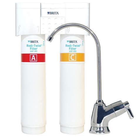 Brita Sink Water Filter by Brita Redi Twist 2 Stage Water Filtration System
