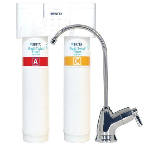 brita under sink water filter brita redi twist 2 stage drinking water filtration system