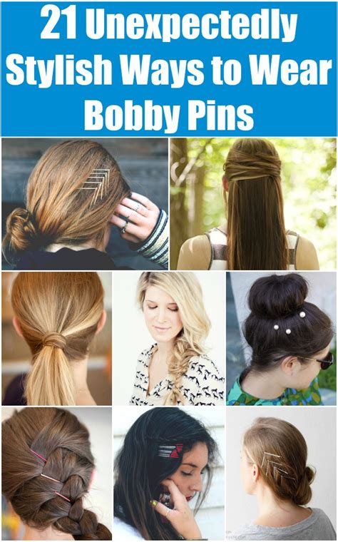 21 Unexpectedly Stylish Ways to Wear Bobby Pins DIY & Crafts