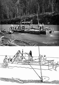 Spoon Dredge  Buller River  1895  U2013 Gold And Gold Mining