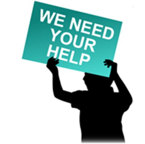 Image result for We Need Your Help