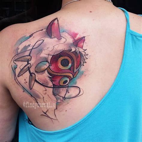 Watercolor Tattoo  Princess Mononoke Tattoos Recherche