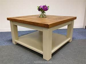 plank top solid pine square coffee table farmhouse With plank top coffee table