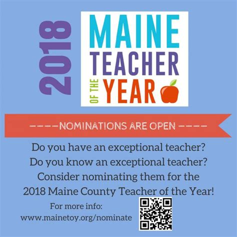 nominations open county teachers year penbay pilot