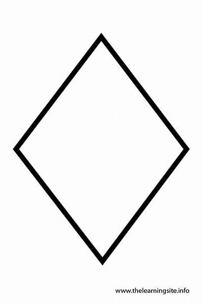 Diamond Shape Shapes Outline Template Clipart Coloring