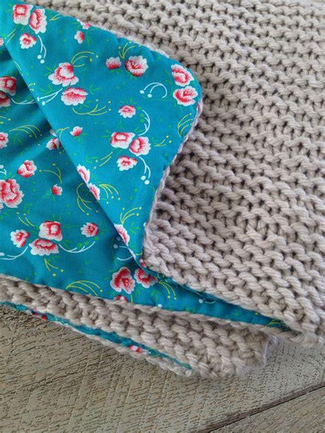 couverture b 233 b 233 tricot 233 avec rapido phildar et doubl 233 avec tissus petit pan cousu