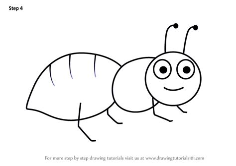 learn   draw  ant  kids animals  kids step
