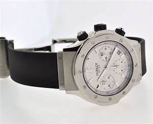Hublot Classic Chronograph Silver  White Dial Watch Ref