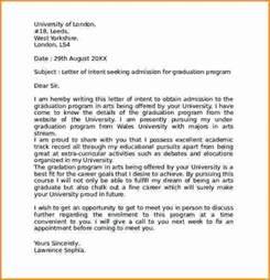 Letter of Intent Examples Graduate School