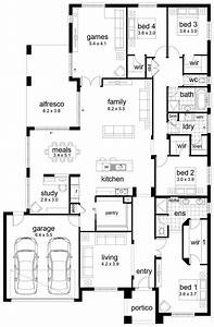 floor plan friday 4 bedroom family home With four bed room site plan