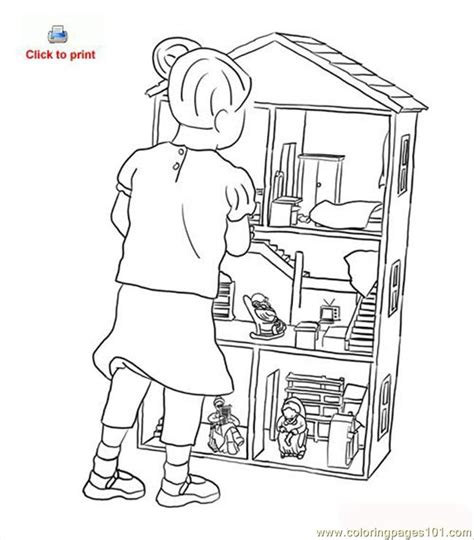 doll house coloring page coloring page  houses coloring pages coloringpagescom