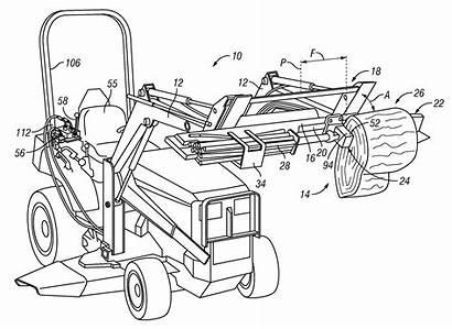 Loader Tractor End Drawing Garden Splitter Hydraulics