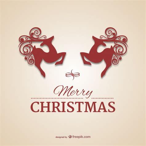 christmas card  reindeers  vector