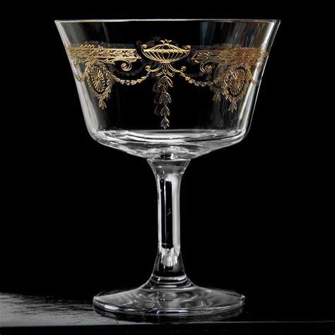 vintage cocktail retro fizz 1890 gold cocktail glass click to shop