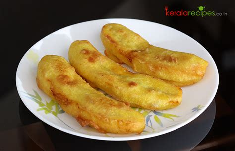 table snack cuisine pazham pori ethakka appam kerala recipes